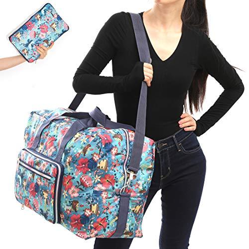 22' Foldable Large Travel Duffel Duffle Bag Overnight Carryon Weekend Bag Shoulder Bag Water Rresistant 8 Color Choices (mermaid)