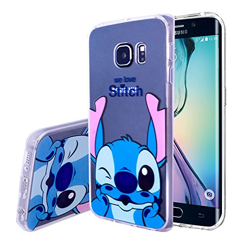 VCOMP Tienda Transparente Silicona TPU Funda Carcasa con diseño de Dibujos Animados Disney para Samsung Galaxy S6Edge sm-g925F