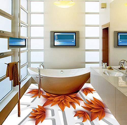 Yosot Modern 3D Blad Photo Vloer Behang Verwijderbare Vloeren Lijmen Vloerstickers Hotel Home Decor Anti Draag 3D Vloer Muren 450cmx300cm