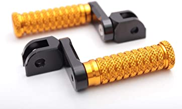 Autobahn88 Motorcycle Footpeg (Front - STREET-Type with 40mm-Extension) fits for Ducati Scrambler Full Throttle (2015-2018) (Gold)