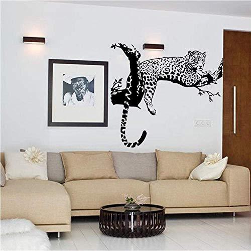 Adesivo Albero Leopardo Nero Camera Da Letto Soggiorno Pareti Adesivi Murali Decorazioni Per La Casa Pegatinas De Pared Cucina Magneti Per Frigo 86 * 72 Cm