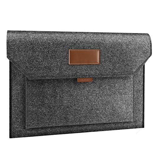 MoKo 15.6 Inch Felt Laptop Sleeve Case Bag Fits 2019 MacBook Pro 16 Inch, MacBook Pro 15.4