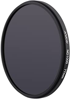 ND Fliter, GoolRC 77mm ND1000 10 Stop Fader Neutral Density Filter compatible with Nikon Canon DSLR Camera