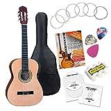 Classic Cantabile AS-861 Konzertgitarre 3/4 Starter-SET (akustische Klassikgitarre, geeignet für...