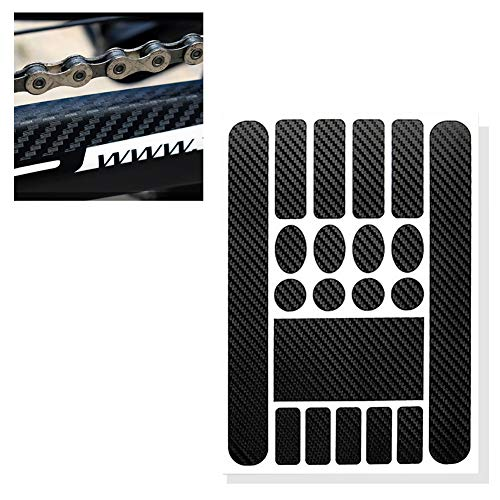 Xiton 1Sheet Bicycle Chainstay Stickers Chainstay Frame Protector scratch resistant sticker Bike Protective Tape Guard for Road BikeCarbon Black