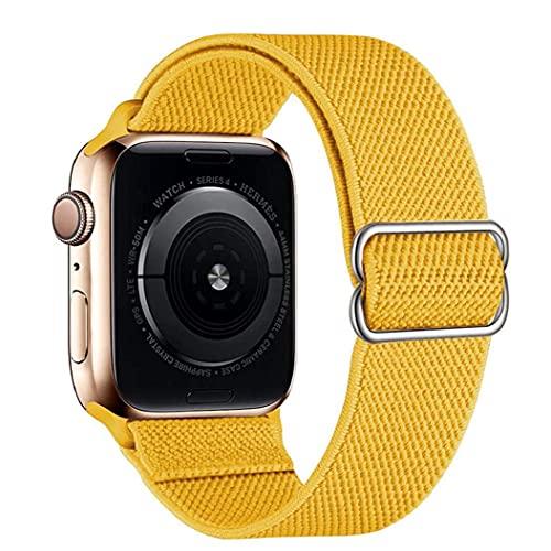 NiceJoy Correas de Reloj de Nylon Ajustables compatibles con iWatch 42mm 44mm de reemplazo de reemplazo de Jengibre de Pulsera