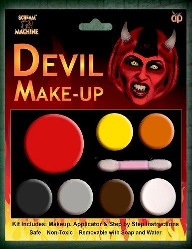Davies 11584Halloween diablo maquillaje juego de brochas de pintar