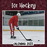Ice Hockey 2022 Calendar: Ice Hockey mini calendar 2022 2023, Ice Hockey 2022 Planner with Monthly Tabs and Notes Section, Ice Hockey Monthly Square Calendar with 18 Exclusive Photos
