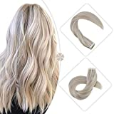 Hetto Glue in Extensions human hair 20Pcs 50G 14 inch #18 Ash Blonde
