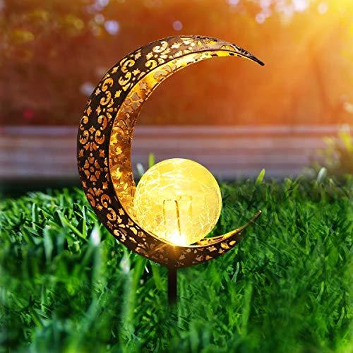 Herefun Lámpara Solar para Jardín, Luz Solar Jardín, Solar para Exteriores Decoración de Jardín, Luz Solar Jardín para Jardín Patio al Aire Libre Partido Decorativo