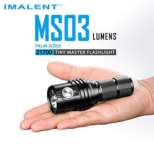 IMALENT MS03 Taktische Taschenlampe 13.000 Lumen, 3 Stück CREE XHP70 2nd LEDs Extrem Helle Tragbare Taschenlampe für Outdoor, Wandern, Camping, Notfall