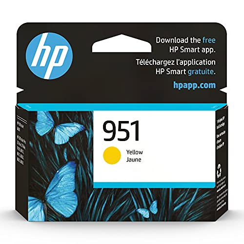 Original HP 951 Yellow Ink Cartridge | Works with HP OfficeJet 8600, HP OfficeJet Pro 251dw, 276dw, 8100, 8610, 8620, 8630 Series | Eligible for Instant Ink | CN052AN