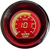 CLJ-LJ 2'52mm Coche Digital Turbo Boost Gauge PSI TEMP ACEAR TEMP ACEITE PRESIÓN PRESIÓN PRESIÓN VOLTÍMER TACÓMETRO RPM METER TACOMETRO (Color : Water temp gauge)