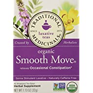 Traditional Medicinals Organic Smooth Move Herbal Tea, 16 Count, Pack of 2