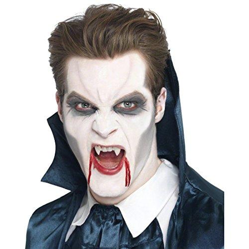 NET TOYS Dents Vampire Halloween Blanches - Dents de Vampire - Dentition de Vampire - dentier Dracula - Dents de Dracula