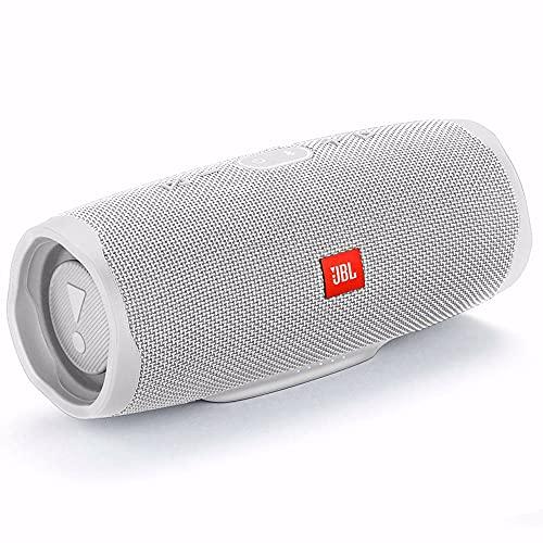 JBL Charge 4 Bluetooth-Lautsprecher in Weiß – Wasserfeste, portable Boombox mit integrierter Powerbank – Mit nur einer Akku-Ladung bis zu 20 Stunden kabellos Musik streamen