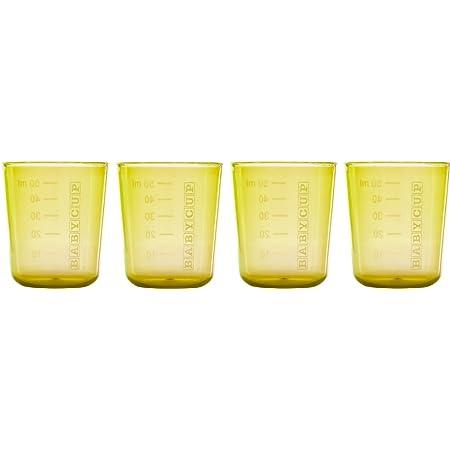 Edute エデュテ プレゼント BABYCUP (ベビーカップ) ファーストカップ 50ml 4個入り イエロー色 プラスチック製 子供 室内 おうち遊び おうち時間