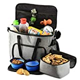 PETS GO2 Dog Travel Bag - Convenient Machine Washable Storage - Supply Tote for...
