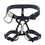 X XBEN Thicken Climbing Harness, Protect Waist Safety Harness Gear, Wider Half Body Harness for Roofing Mountaineering Fire Rescuing Rock Climbing Rappelling Tree Climb