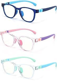 Kids Blue Light Blocking Glasses Silicon Material Anti Eyestrain UV Blocking Reading Glasses Gaming Computer Eyeglasses Li...
