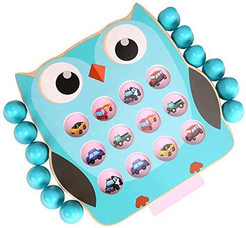 OOPP Kinder Memory-Kartenspiel, Kinderholzpuzzle Detective Kartenspiel, Hand-Auge-Ausbildung Kinder Aufklärung Spielzeug, Eltern-Kind-interaktives Spielzeug