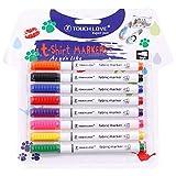 8 Pcs/Set Clothes Textile Marker Fabric Paint Pen Crafts T Shirt Pigment Painting Pen School Home Stationery Graffiti Supply