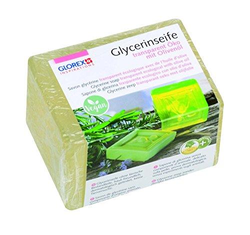 GLOREX 6 1600 140  Glycerin-Seife Öko 250g mit Olivenöl transparent