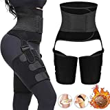 Waist Trainer for Women Weight Loss-Sweat Girdle High Thigh Trimmer Fitness Butt Lifter Slimming 3 in 1 Adjustable Hip Enhancer Trimmer Invisible Waist Belt Training Body Shapewear for Workout