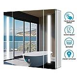 Tokvon Alameda 65x60cm Spiegelschrank LED Badezimmer Spiegelschrank mit Beleuchtung Wandschrank...