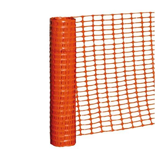 D-Work - Malla de delimitación y demarcación de 1 m x L, 50 metros de polietileno naranja de alta calidad
