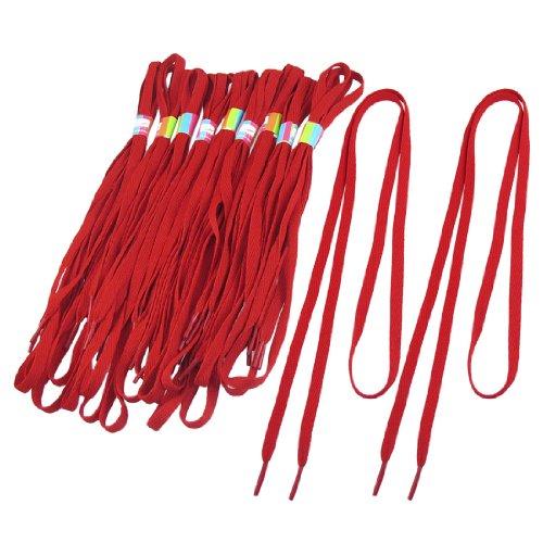 Sourcingmap 10 paires Rouge 115cm long Baskets Sport Télévision Lacets