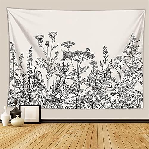 RAILONCH Tapiz y colcha, flores y plantas de flores silvestres, decoración de pared, paño de pared, para sala de estar, dormitorio (FGT5842, 150 x 130 cm)