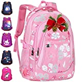 Backpack for Girls 18' | Lightweight Pink Laptop Bag Durable and Functional, Perfect Book Bags for Elementary, Middle School or High School