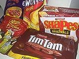Aussie Survival Box - Tim Tams, Twisties, Party Mix, Cadbury Treats, Savoury Shapes