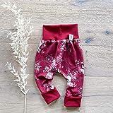 Baby Hose Mädchen - Rot große Rosen (Rot) Baby Mädchen Hose, Mitwachshose