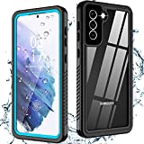 Oterkinfor Samsung Galaxy S21 Case,S21 Waterproof Casewith Built-in Screen Protector Dustproof Shockproof 360 Full Body Underwater Case for Samsung S21 5G 6.2inch (2021)