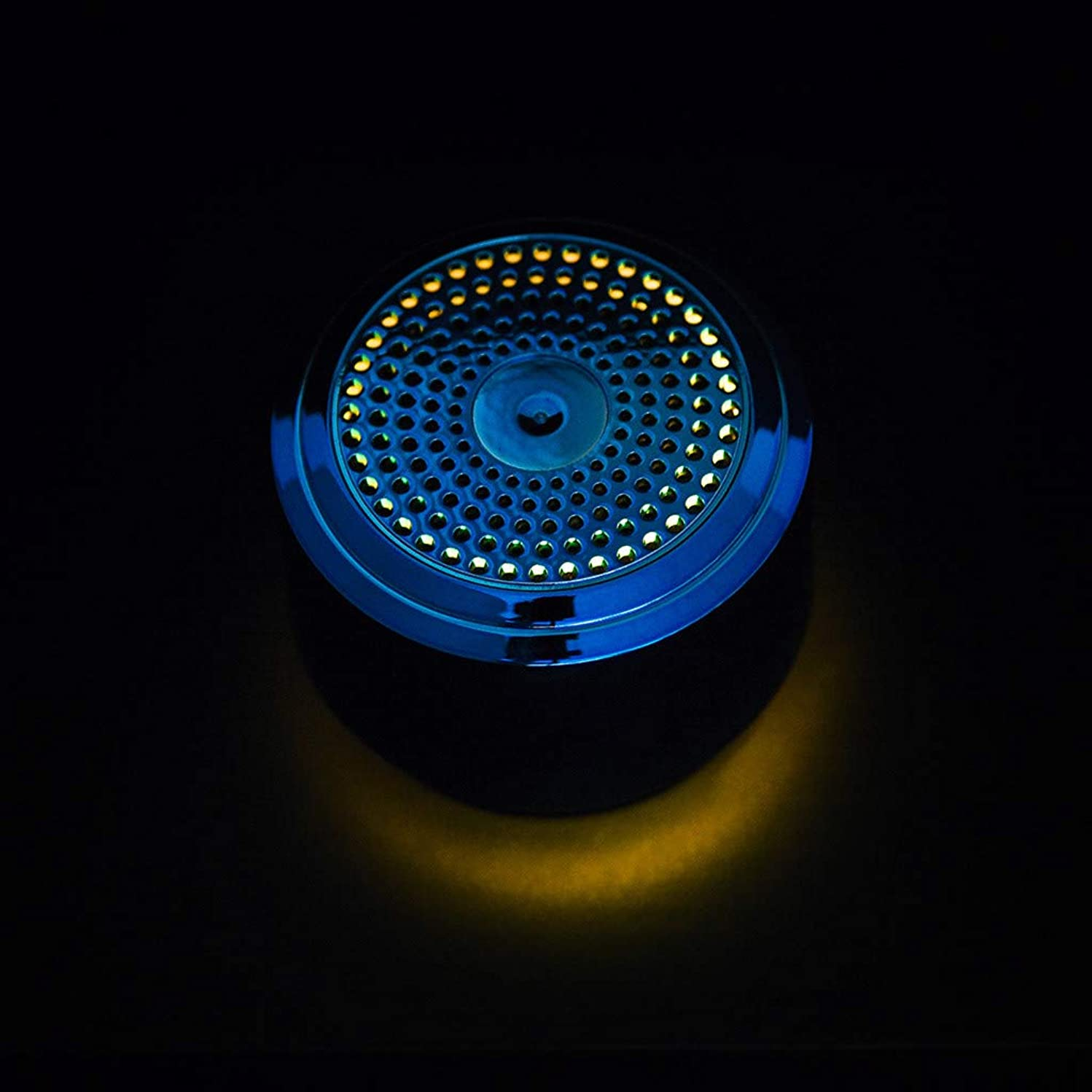 Wowpower Mini Bluetooth Speaker with Ambient Light Mini Bluetooth Speaker USB Led Light Wireless Portable Music Box Subwoofer Small