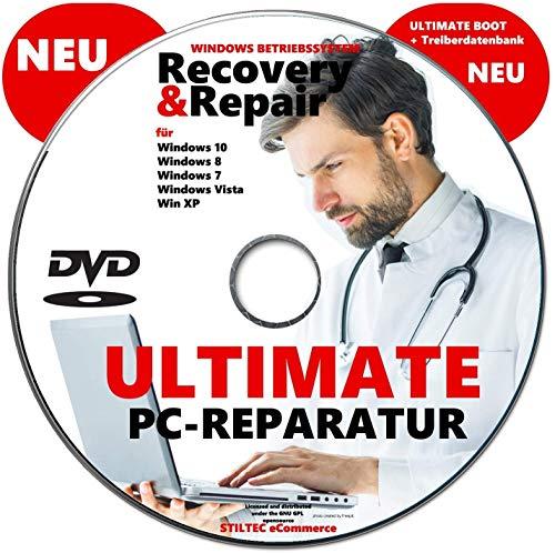 Recovery & Repair 2020 CD DVD für Windows 10 & 7 & 8 + Vista + XP PC REPARATUR Rescue-DVD Fährt jeden Rechner wieder hoch ! NEU -