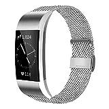AK Bracelet Compatible pour Fitbit Charge 2 Bracelet en Acier, Remplacement Bracelet...