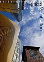 Mainhattan - Vertikal (Tischkalender 2022 DIN A5 hoch): Hochhaeuser aus Frankfurt am Main im vertikalen Format (Monatskalender, 14 Seiten )