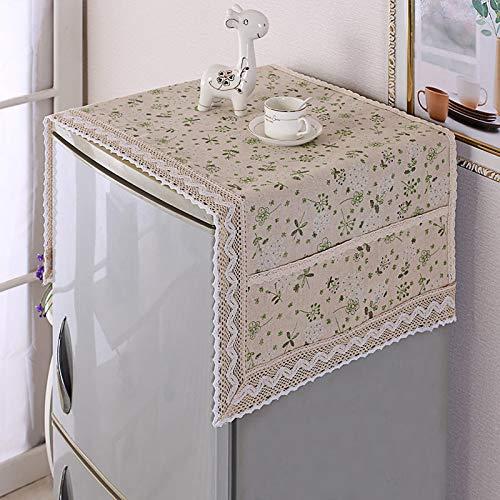 STARKWALL Einfache Multifunktions-Abdeckung Fridge Dust Cover Mit Lagerkag Mehrzweckwaschmaschine Kühlschrank Top Covers 120x55cm Ai