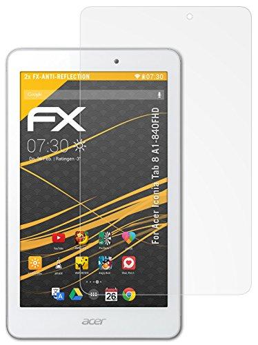 atFolix Panzerfolie kompatibel mit Acer Iconia Tab 8 A1-840FHD Schutzfolie, entspiegelnde & stoßdämpfende FX Folie (2X)