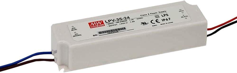 MeanWell LPV-35-5 Power Supply _ 30W 5V - IP67