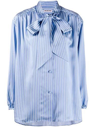 Luxury Fashion   Balenciaga Dames 602014TGO224640 Blauw Acetaat Blouses   Lente-zomer 20