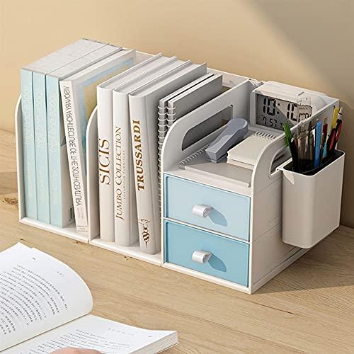 Eenvoudige multi-layer kleine boekenplanken, telescopische boekenplanken op studentenbureaus, bureaubakjes, kinderopslag boekenkasten