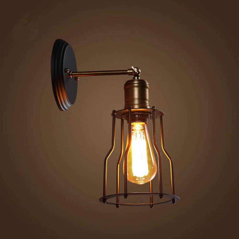Vintage Wandleuchte [Iron Art + Copper] Industrial Wind Single Head Wandleuchte Wasserdichte Auentürlampe