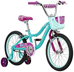 This Schwinn Elm girl's bike with 18-inch wheels is designed for children 3 - 7 years old or 42 - 52 inches tall. The Elm is perfect for riding to the park or riding on the sidewalk around the neighborhood. With Schwinn's SmartStart Technology, this ...