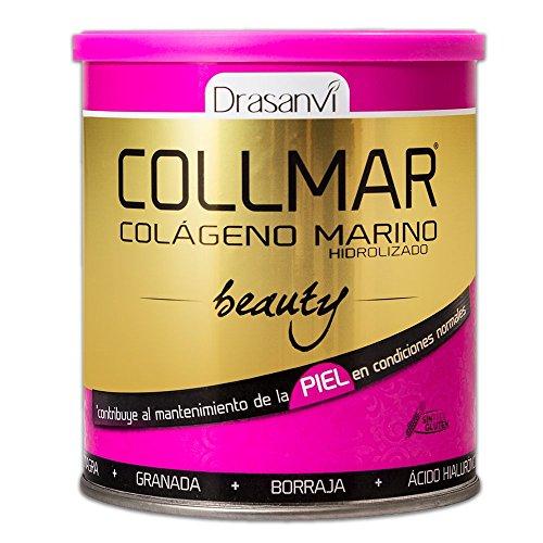 Collmar Beauty 275g–Colágeno marino hydrolysé enzymatiquement, aceite de onagro, Granada, aceite de Borago, Vitamina C y ácido hialurónico