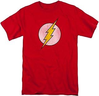 DC Comics Hombre big-tall el flash Distressed Logo–Camiseta, diseño con logotipo