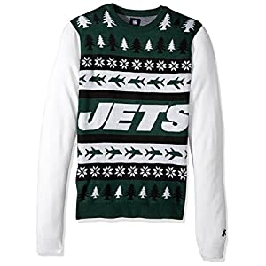 NFL New York Jets WORDMARK Ugly Sweater, X-Large